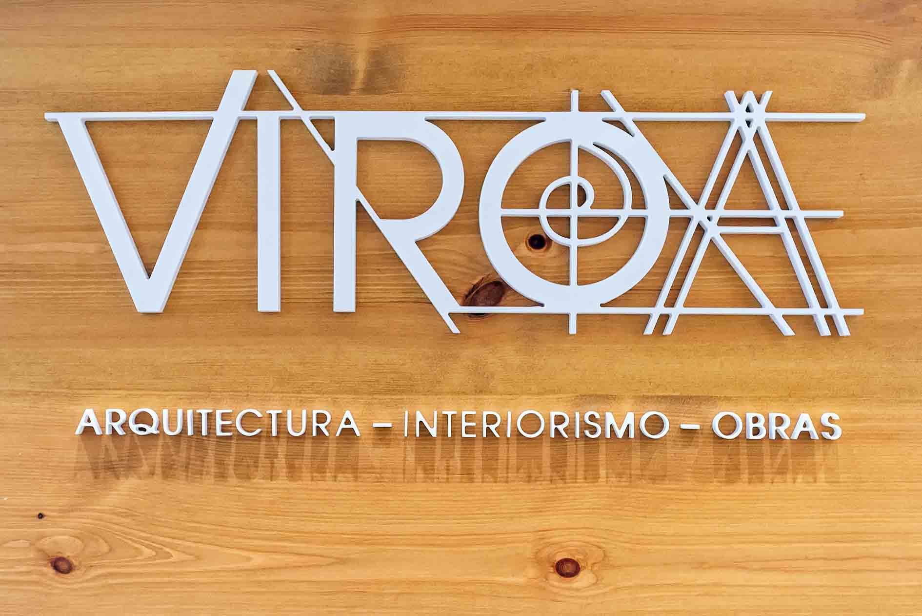 Detalle del Logo Corporativo de Viroa