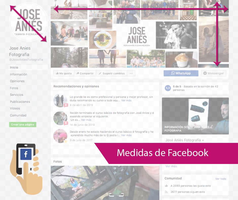 Medidas de las Imágenes de Facebook