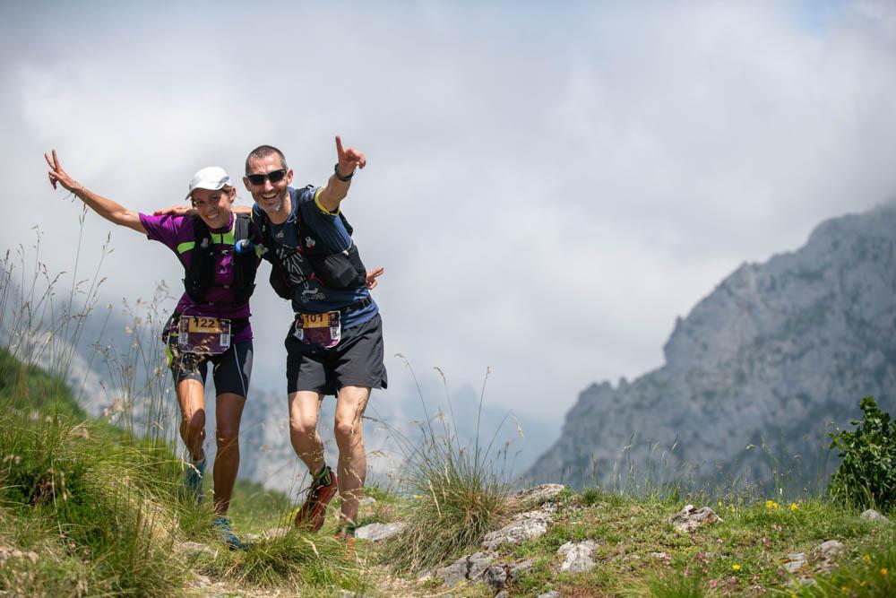 Participantes de la Riaño Trail en los Picos de Europa